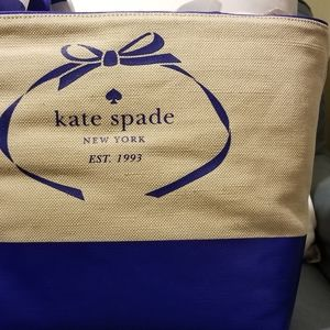 Kate Spade Leather and Canvas Tote